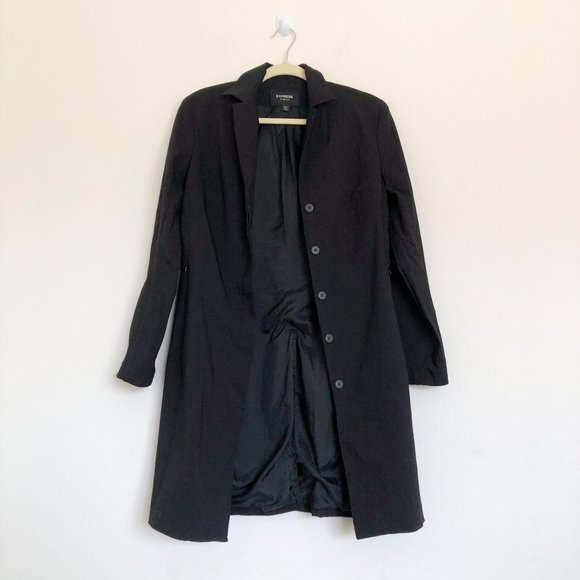 Express Black Long Professional Jacket